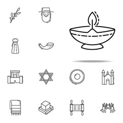 Ner Tamid icon. Judaism icons universal set for web and mobile
