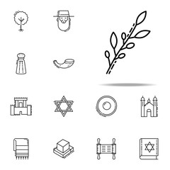 Olive branch icon. Judaism icons universal set for web and mobile