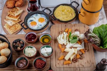 Turkish breakfast delicious, rich breakfast.