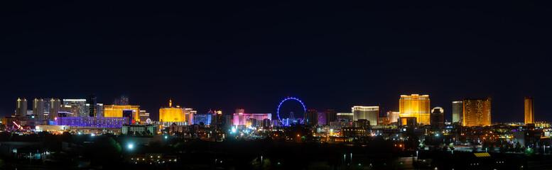 Cainos for Gambling on the Las Vegas Strip Skyline Panorama, Nevada, United States