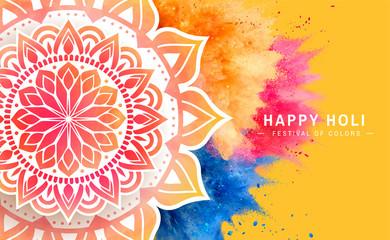 Happy holi poster