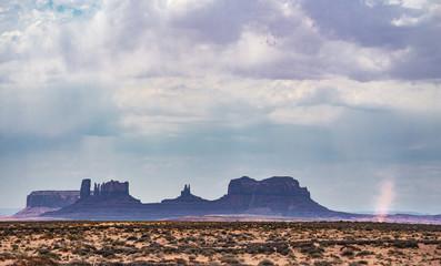 Monument Valley Desert Dust Devil spins across the Arizona Strip