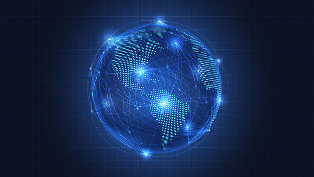 Business concept of Global network connection