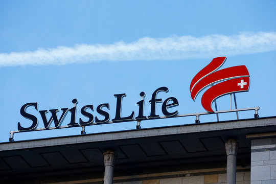 Logo of insurer Swiss Life is seen on the roof of its headquarters in Zurich