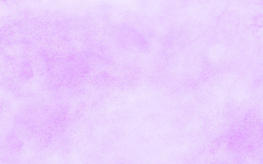 Vintage light purple watercolor paint hand drawn illustration with paper grain texture for aquarelle design. Abstract grunge violet gradient violet water color artistic brush paint splash background