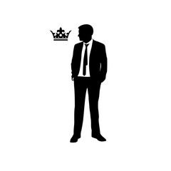 Businessman with a crown icon