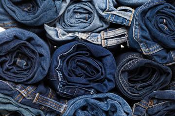 Blue jean background .Blue denim jeans texture