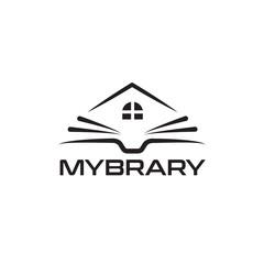 Book Logo design vector template Linear style.book shop store vector logo design