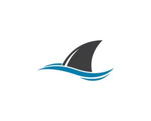 Shark fin logo template vector icon illustration design