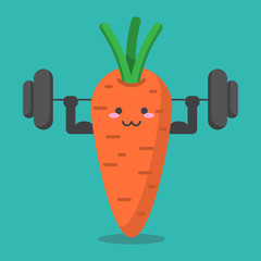 cartoon carrot health strong