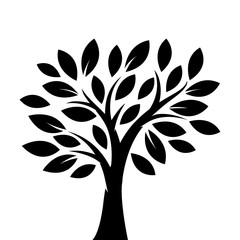 Silhouette tree illustration