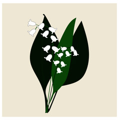 Bit of lily of the valley illustration vector
