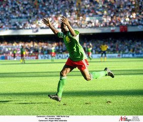 Football - 1990 FIFA World Cup - Second Round - Cameroon v Colombia - Stadio San Paolo, Naples - 23/6/90