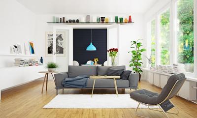 modern scandinavian living room design.