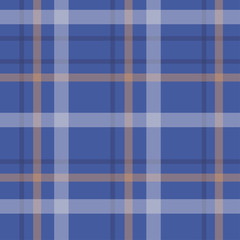 Seamless blue background of plaid pattern