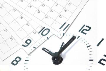 Calendar and Clock Fototapete