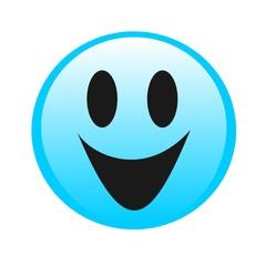Drawing logo smiley, emoticon.Vector drawing blue smiley, emoticon, smiley, smile and happiness.