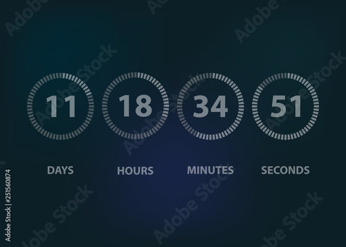 Countdown timer clock background