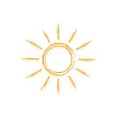 Brush sun icon