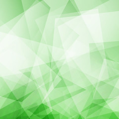 Polygonal green background for your design. Vector illustration
