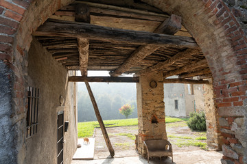 Country house in the Park of Curone at fall