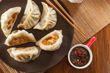 Japanese dumplings - Gyoza with pork meat and vegetables