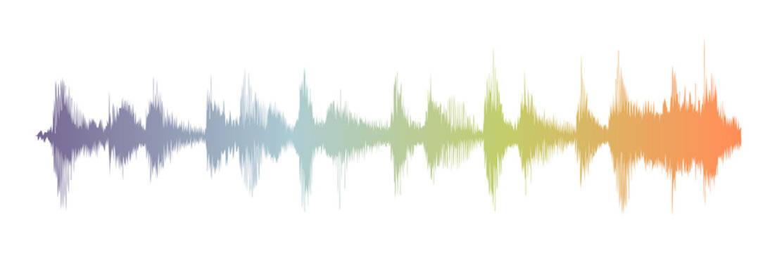 Sound waves oscillating gradient light, Abstract technology background