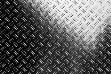 shiny polished aluminum diamond plate metal texture background empty with copy space design pattern background