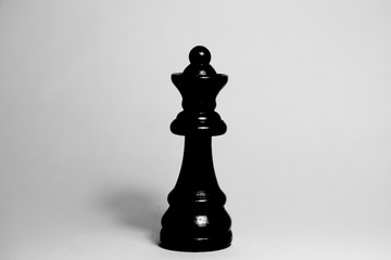 chess queen black isolated