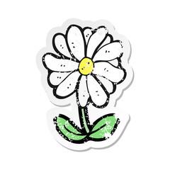 retro distressed sticker of a cartoon flower symbol