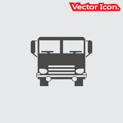 Truck Icon isolated sign symbol and flat style for app, web and digital design. Vector illustration.