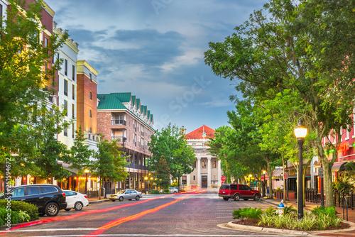 Fototapete Gainesville, Florida, USA downtown