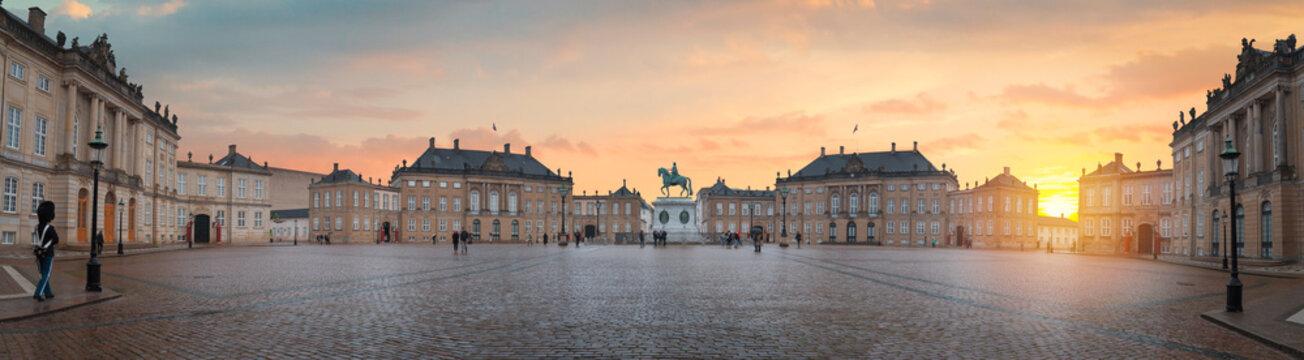 Royal Amalienborg Palace in Copenhagen