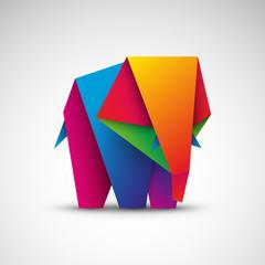 słoń origami wektor