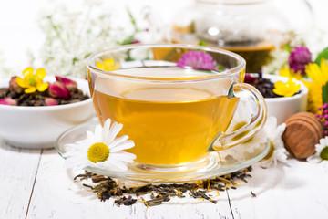 fragrant herbal tea in a cup