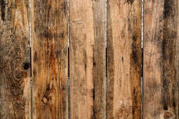 Brown color old grunge wooden fence pattern.