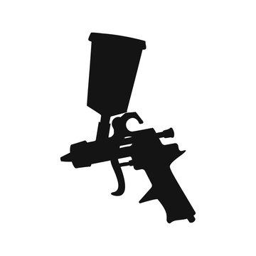 Spray gun icon. Vector illustration on white background.