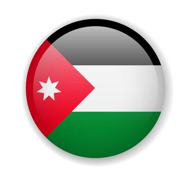 Jordan flag round bright icon vector Illustration
