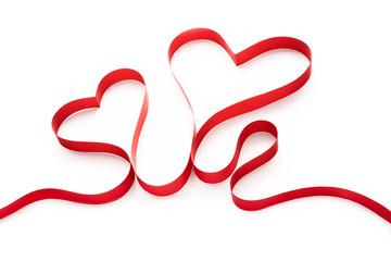 Fototapeta Czerwone serce na białym tle obraz