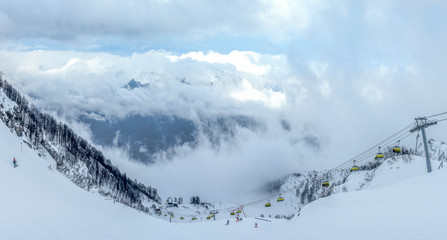 Ski resort Krasnaya Polyana SOCHI is a wonderful place for a family vacation .