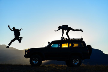 The passion of fun friends, travel and adventure