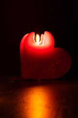 heart shaped candle for valentines day