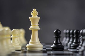 playing chess, strategy concept