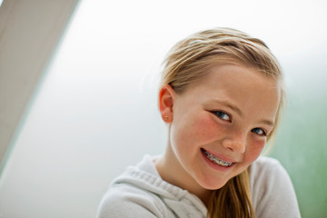 Portrait of a smiling young girl.