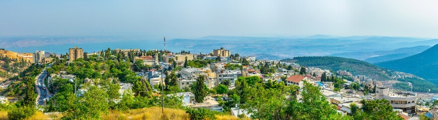 Aerial view of Tsfat/Safed in Israel