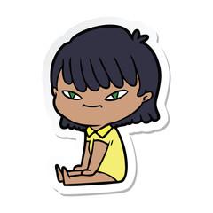 sticker of a cartoon woman