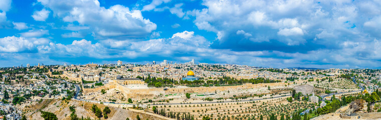 Jerusalem viewed from the mount of olives, Israel Wall mural
