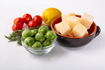 Freshly selection of healthy and clean foods