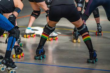 roller skates on a Roller Derby