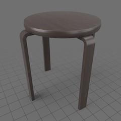Wooden stool 2
